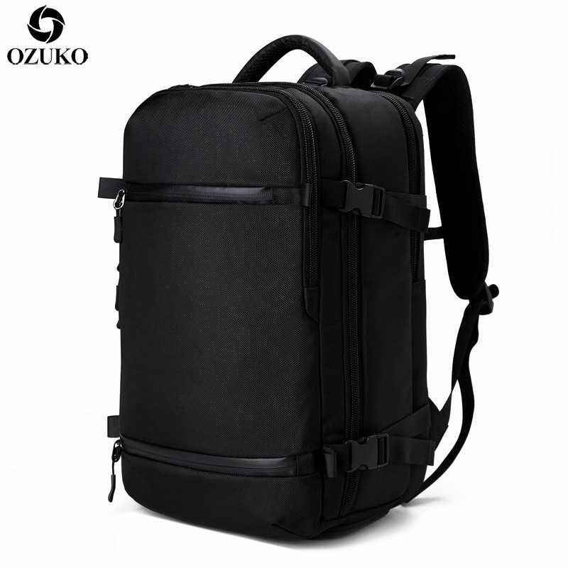 OZUKO Men s Backpack USB 17 3Inch Laptop Backpack School bag Large Capacity Travel Backpack Multi