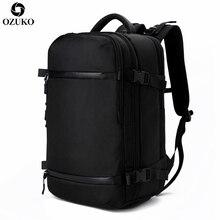 OZUKO мужской рюкзак USB 17,3 дюймов ноутбук рюкзак школьная сумка большой емкости путешествия рюкзак мульти-функциональный повседневный мужской Mochila