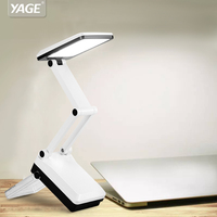 Foldable And Adjustable Eyecare Built In Rechargeable 600mAh Battery Mini Reading 16 LED Dimmable Desk Table