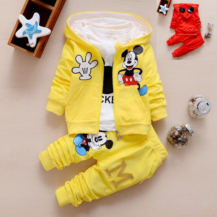 1-5years Cartoon Mickey baby boys clothing set children hoodies pants spring & autumn clothes boys girls sets 3pcs set spring children girls clothing set brand cartoon boys sports suit 1 5 years kids tracksuit sweatshirts pants baby boys clothes page 2 page 2 page 1