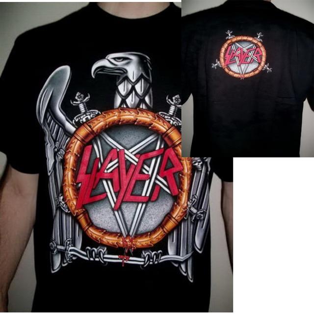 b6e68f9170030 O Matador T shirt homens dois lados Música Rock Estilo Clássico Águia  algodão estampado tee EUA