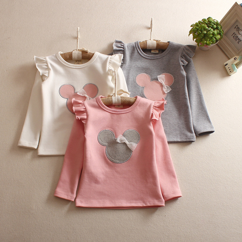 Children's T-Shirt Spring Girls'long-Sleeve Bottoming Autumn Summer And Cartoon