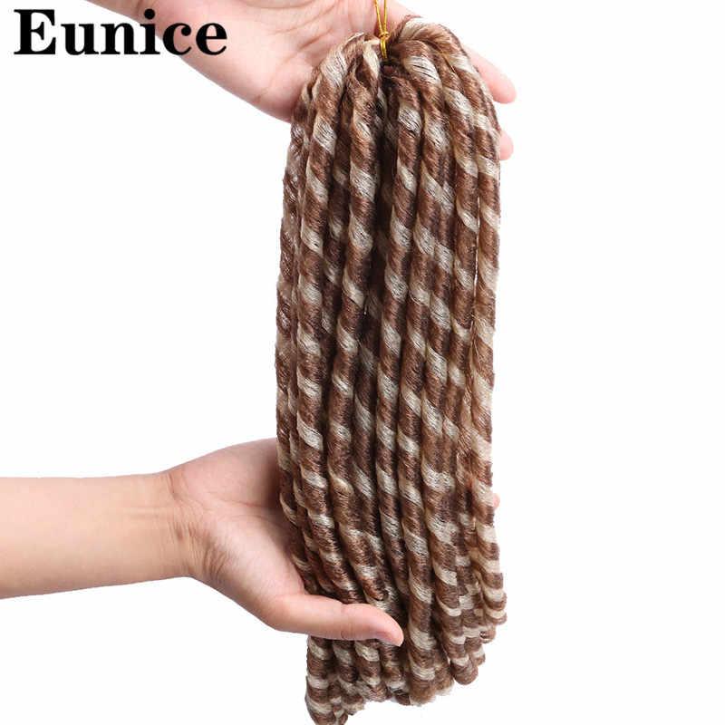 18 дюймов 100 г/упак. синтетические косички для наращивания дредов Наращивание волос Плетение волос Мягкий Омбре/чистый коричневый крючком косы волосы