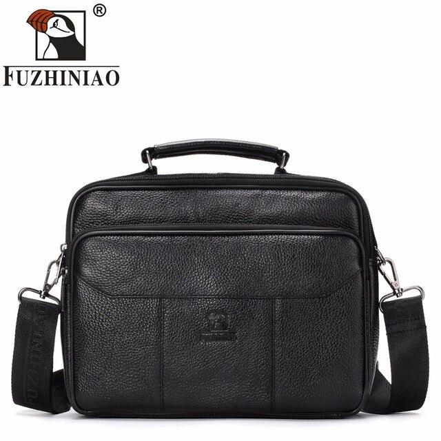 FUZHINIAO Brand Leather Men Bag Casual Business Mam Messenger Bag Fashion  Men s Crossbody Travel Briefcase Bolsas male Tote 2018 b9f6a071d0