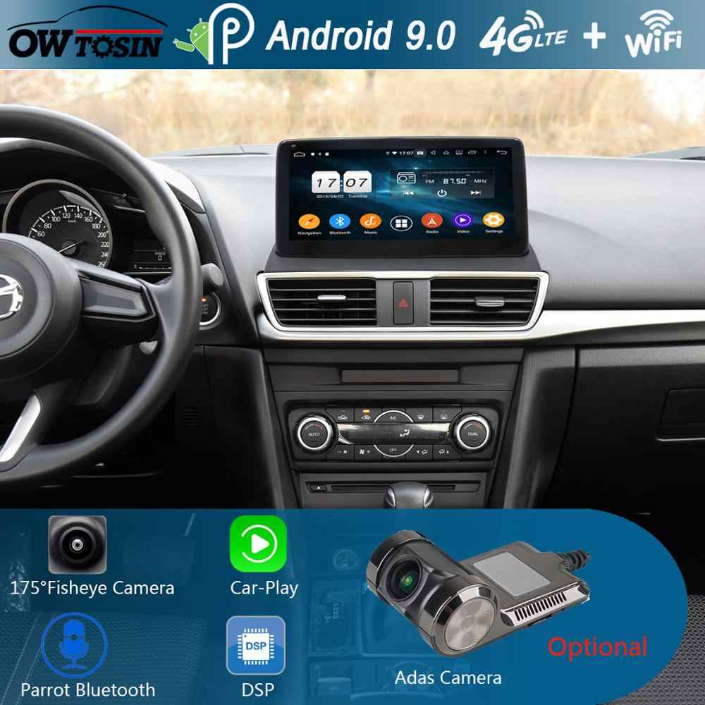 "10.25 ""IPS 8 Core 4 GB + 64 GB Android 9.0 Auto Multimedia Speler Voor Mazda 3 Mazda3 Axela 2014 2015 2016 2017 GPS Radio DSP CarPlay"