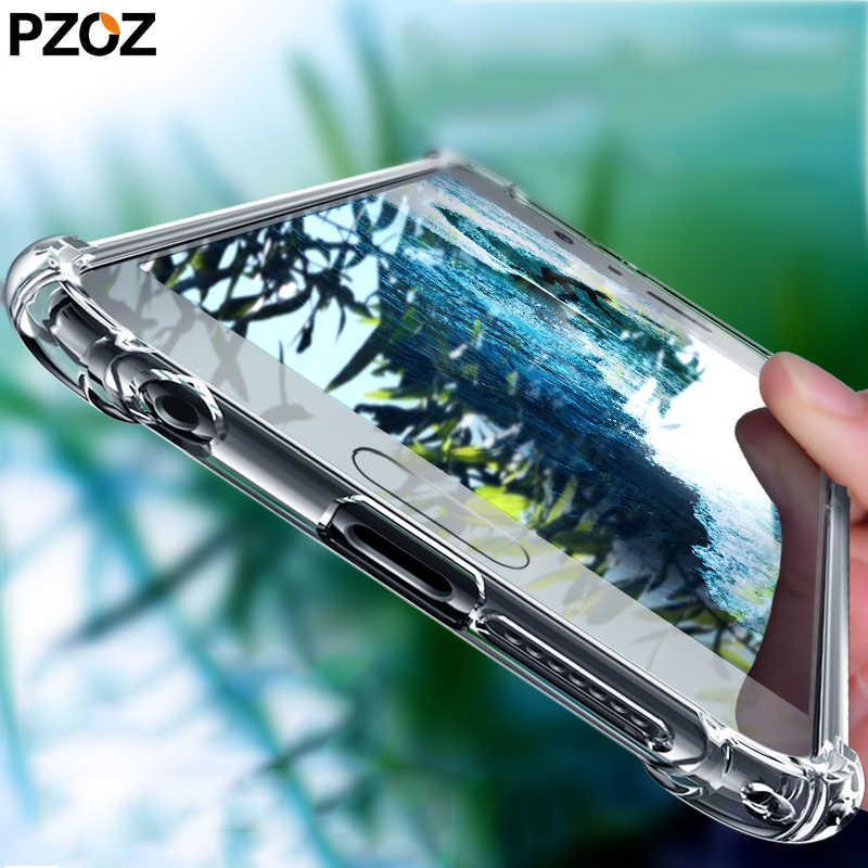 Pzoz honra 9 lite caso de silicone transparente tpu para huawei honra 9 10 lite proteção caso honra vista 20 pro honor9 8x max 8a