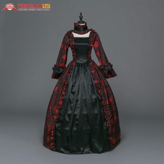 Brocade Zeitraum Mittelalterlichen Renaissance Gothic Kleider Kleid mw8Nn0Ov