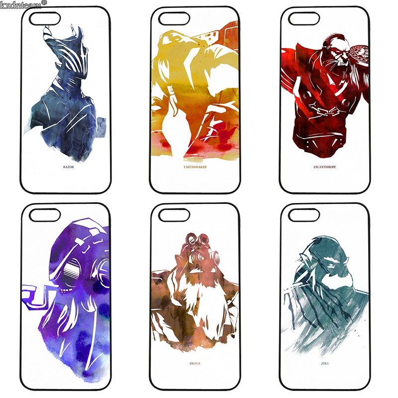 Fashion Game Dota 2 Logo Cell Phone Case Hard PC Cover Fitted for iphone 8 7 6 6S Plus X 5S 5C 5 SE 4 4S iPod Touch 4 5 6 Shell