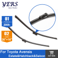 "Wiper blades for Toyota Avensis (from 2008 onwards) 26""+16"" fit push button type wiper arms only HY-T11"