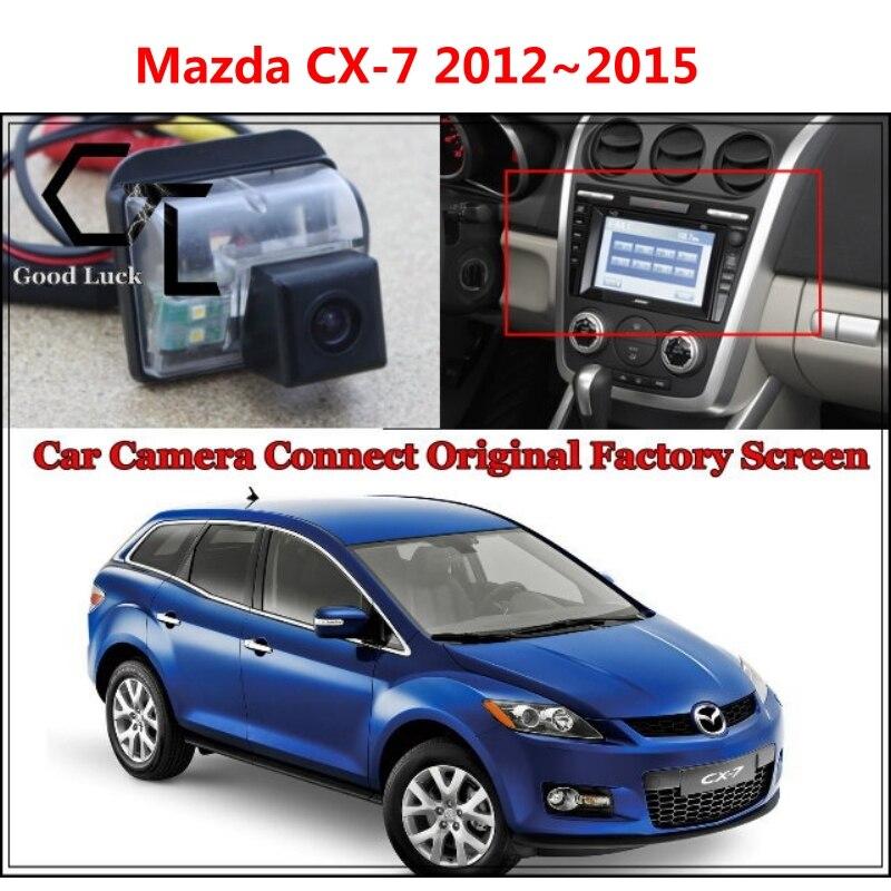 Car Camera for Mazda CX7 CX 7 CX 7 2012~2015 Connected with Original Screen Monitor Rear View Backup Camera Original car screen