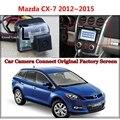 Câmera do carro para Mazda CX7 CX-7 CX 7 2012 ~ 2015 Conectado com a Tela Original Monitor de Visão Traseira de Backup Câmera do carro Original tela