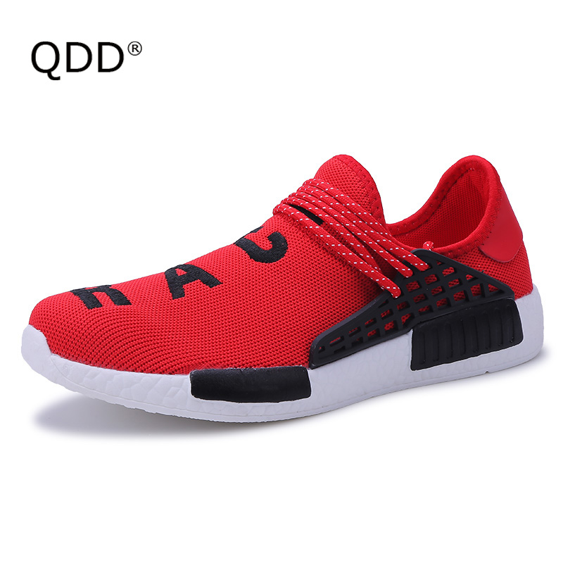 0e0d17b02ab7a QDD 2018 Brand Super Light Men Running Shoes Breathable Human Race Shoes  for Man Summer Krasovki Trainers Ultra Boosts Sneakers -in Running Shoes  from ...