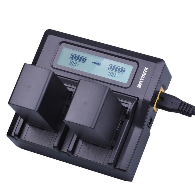 2 шт. 2900 мАч BP828 BP 828 батареи для камеры + быстрое двойное зарядное устройство с ЖК-дисплеем для Canon BP-820 LEGRIA iVIS фотокамера VIXIA HF G30 G40 XA20 XA25 XA35