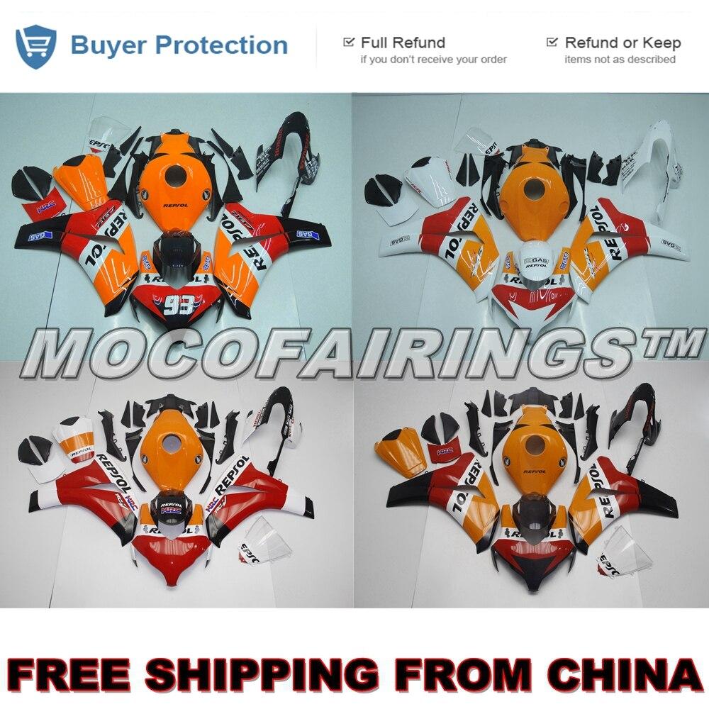 Kit de carénage de moto ABS 100% OEM pour Honda CBR1000RR 2008 2009 2010 2011 CBR 1000 RR carénages carrosserie REPSOL