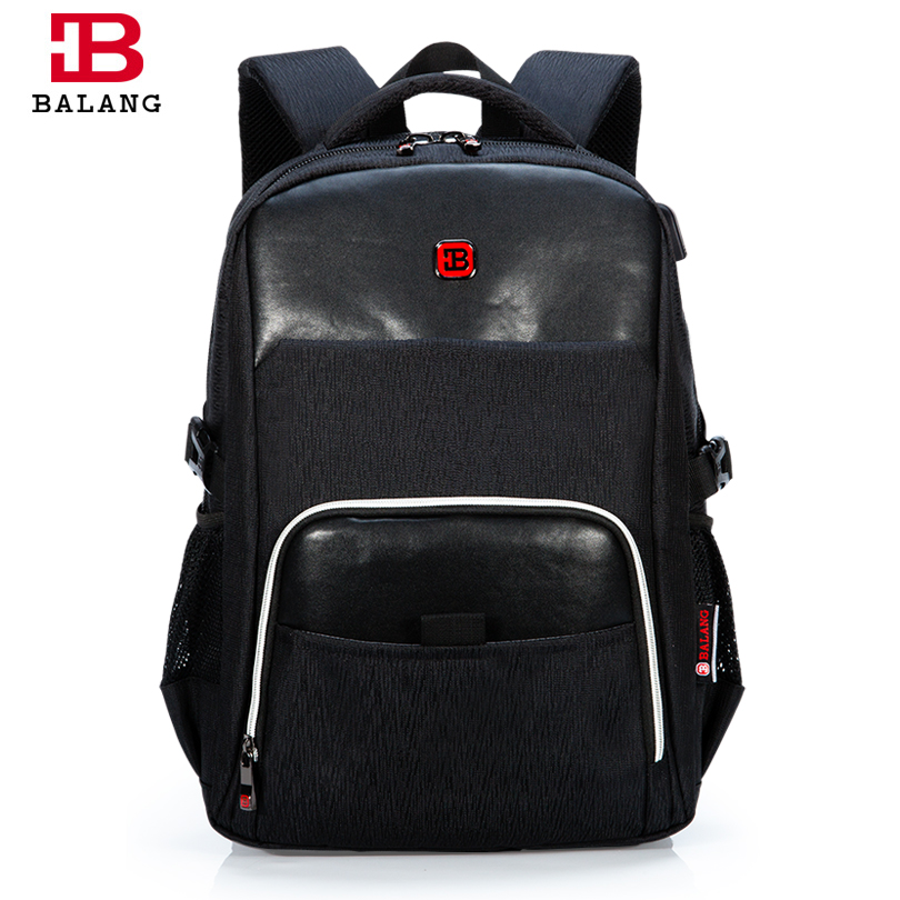 BALANG High Quality Laptop Backpack for Men Women Waterproof Travel Backpack Casual Notebook School Bags For Teenagers Rucksack senkey style designer backpack men high quality 2017 waterproof leather retro laptop backpack women school bags for teenagers