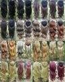 16 Цветов Новый Женский Длинные Afro Kinky Синтетический Парик 3/4 парик Термостойкость Половина Парик Кудрявая Блондинка Парик Площадку Для волос