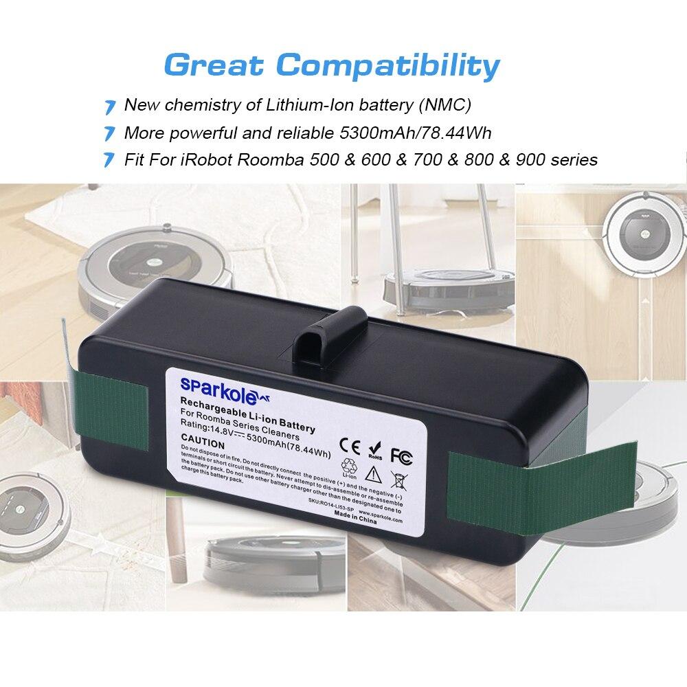 14,4V 3000mAh Akku Batterie für iRobot Roomba 500 530 535 555 560 570 581 610 DE