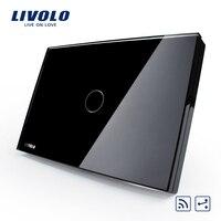 Livolo Black Pearl Crystal Glass Panel Smart Switch VL C301SR 82 US AU 2 Way Digital