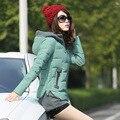 2016 Nueva Marca de Ropa de Moda de invierno chaqueta de las mujeres wadded abrigo femenino medio-largo thicking ocasional Delgado con capucha de down abrigos FB120