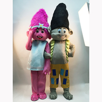 Nieuwe troll mascotte kostuum voor 1.6 m tot 1.85 m mascotte kostuum trolls karakter fancy dress mascotte kostuum verjaardagen gift