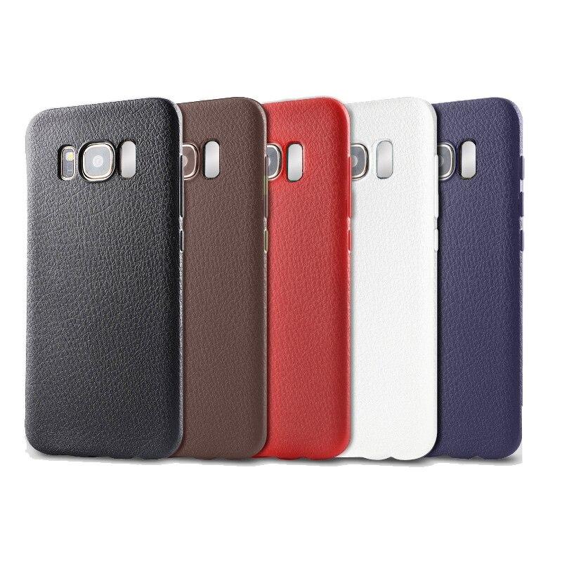 imágenes para 30 unids Para Samsung S8 caso TPU Protector Caso Del Teléfono Celular Coque para Samsung Galaxy S8 Más Caso Textura de cuero PU Capa