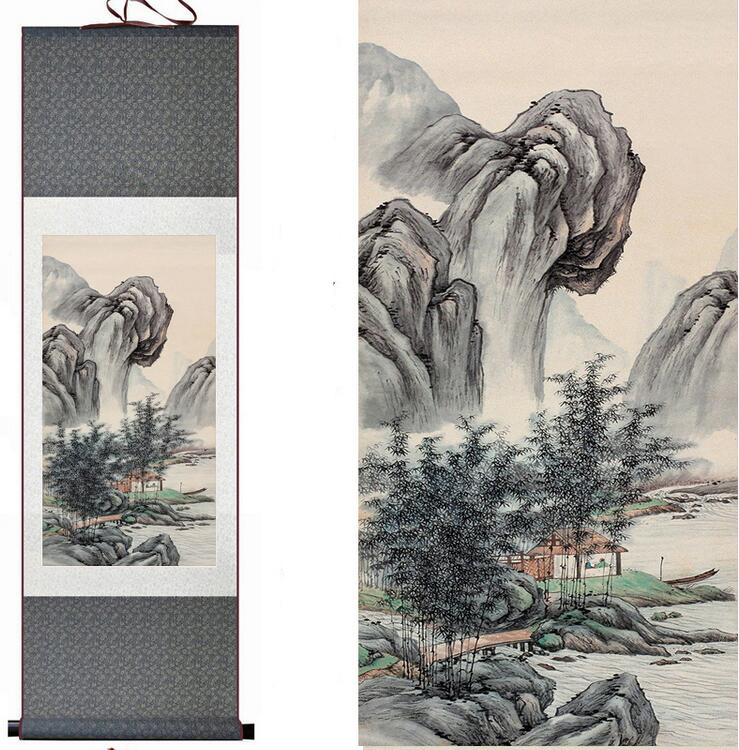 Traditional Mountain and River painting Chinese scroll painting landscape art painting home decoration painting