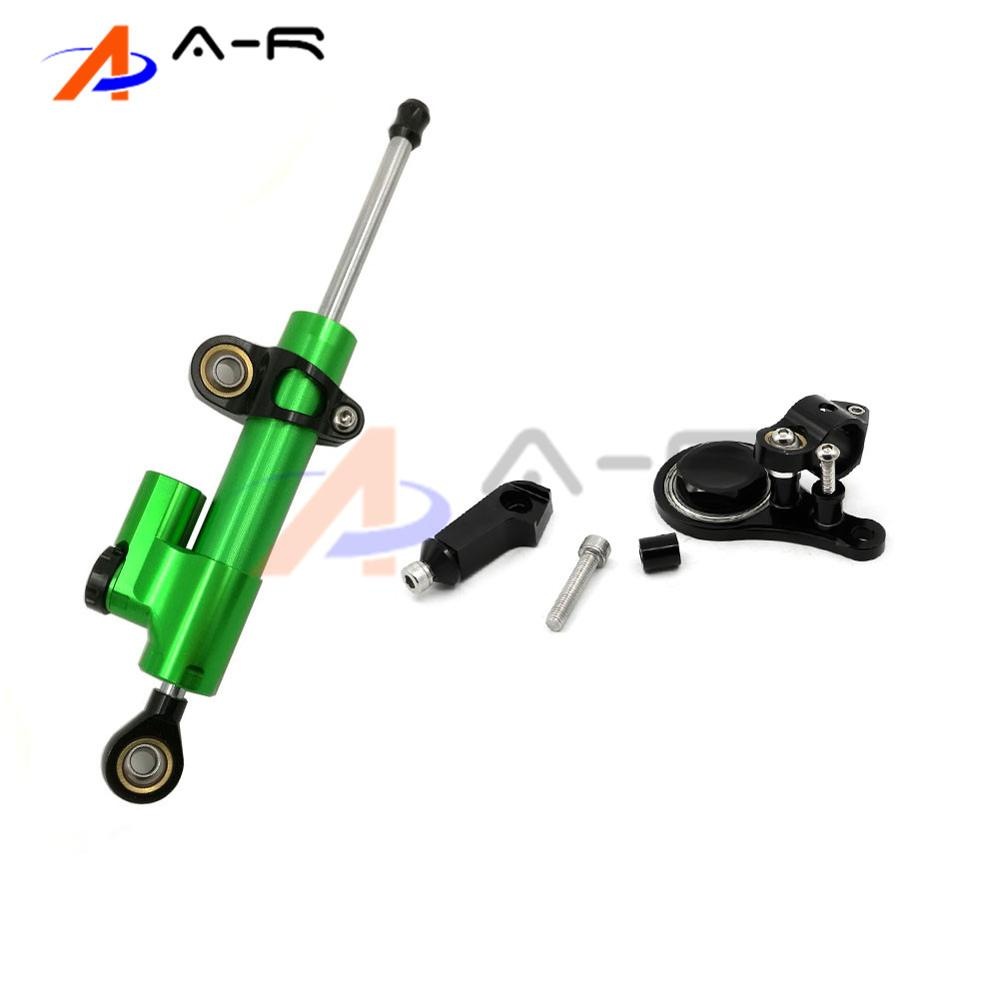 Motorcycle Aluminum CNC Direction Steering Damper Steering Mounting Kit Stabilizer Adjustable for Kawasaki ZX636 ZX6R 2005-2006 for honda cbr600rr cbr 600rr 2005 2006 fx cnc aluminum adjustable motorcycle steering stabilizer mounting bracket support kit