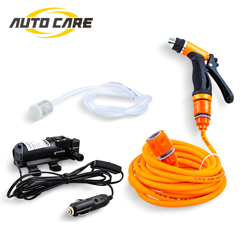 12V Car Washer Portable Gun Pump Car Self-priming High Pressure Auto Care Electric Outdoor Washing Machine For Cleaning