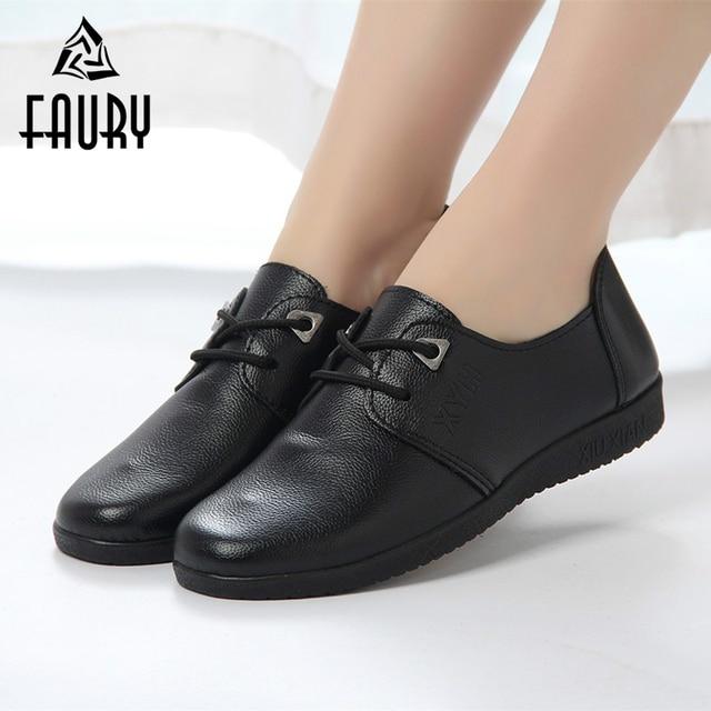 Non Slip Black Womens Work Shoes