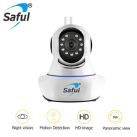 Saful High Quality Wireless IP Camera Night Vision Security Wireless Baby Monitor Two Way Audio Smart