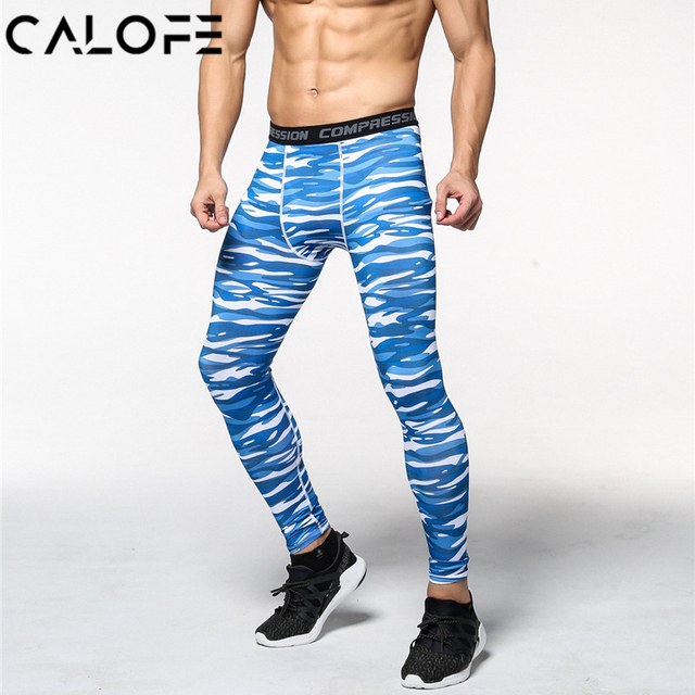 c336782855 CALOFE 2018 Joggers Men Compression Pants Tights Bodybuilding Running  Trousers Brand Camouflage Army Fitness Gym Skinny Leggings