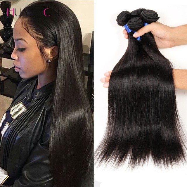 3 Bundles Indian Human Hair Extensions 8A Indian Virgin Hair Straight Weave  Cheap Straight Virgin Hair Indian Remy Hair Bundles 8376cf8abf85