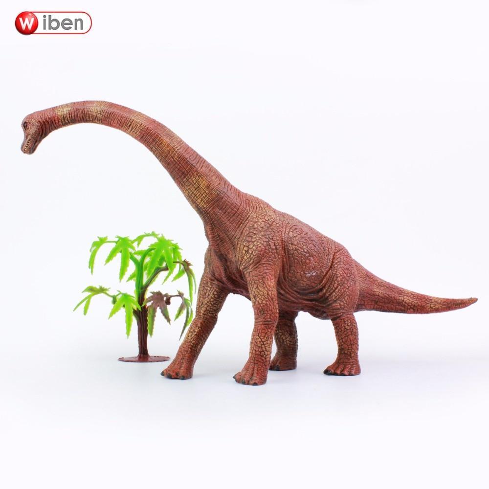 Wiben Jurassic Brachiosaurus Dinozauru rotaļlietas Rīcības attēls Dzīvnieku modeļa kolekcija Augstas simulācijas Ziemassvētku dāvana bērniem
