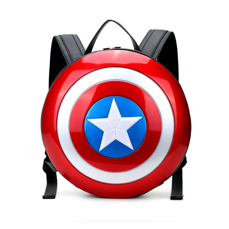 Marvel Avengers Age of Ultron Captain America Hard Backpack Plastic Shield  Backpack 15   Field Pack 4 Colors Super Hero Rucksack-in Backpacks from  Luggage ... 0086b21defe15