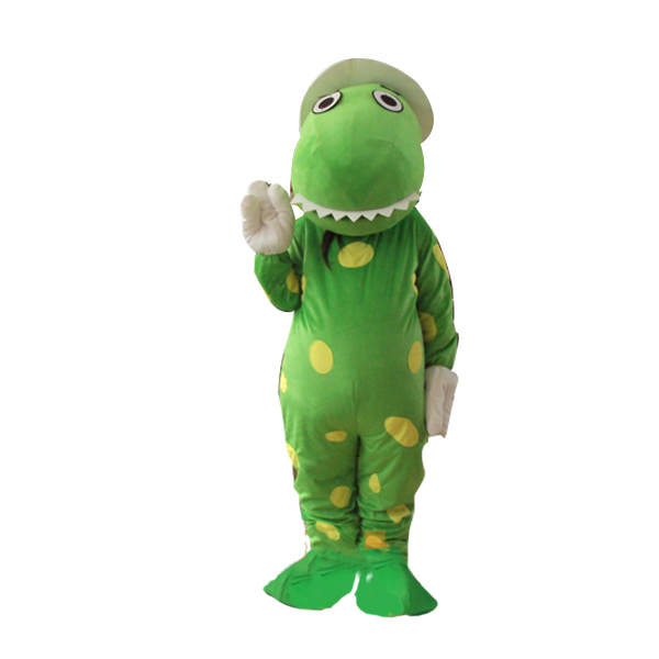 Dorothy The Dinosaur Mascot Costume Green Dinosaur Mascot Costume Mascot Costume for Halloween Party Fancy Dress