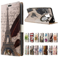 Xiaomi Redmi 4 Pro Case Eiffel Tower Clock PU Leather Wallet Flip With Stand Cover Case