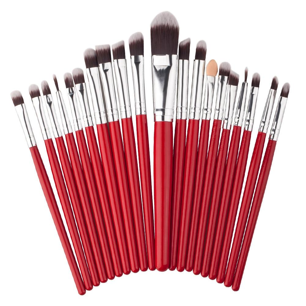 20 Pcs Makeup Brush Set Cosmetics Foundation Blending Blush Makeup Tool Powder Eyeshadow Cosmetic Set slim fan shape powder concealor blending finishing pinceau fond de teint makeup brush nail art brush for makeup cosmetics tool