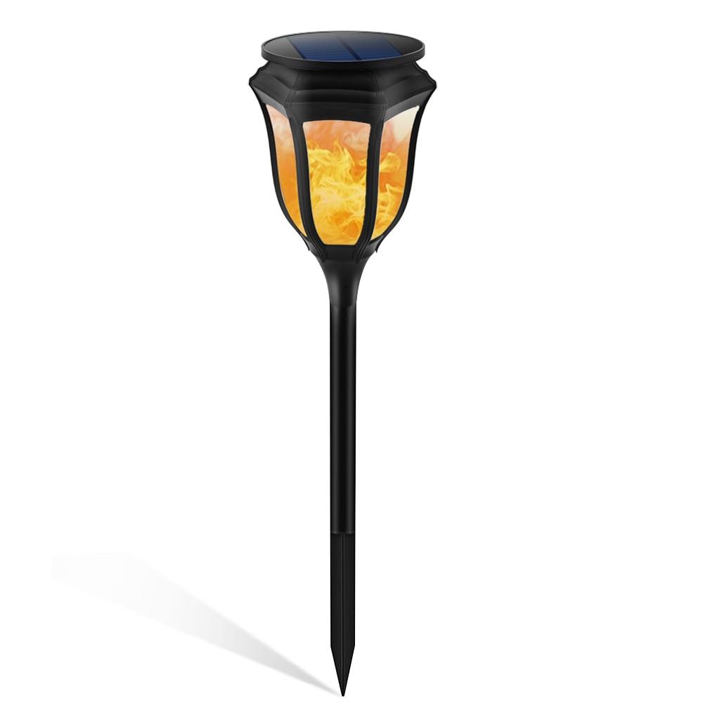 Solar Power LED Hexagon Flame Lamp Waterproof Landscape Light Outdoor Home Garden Patio Lawn Decorations цена