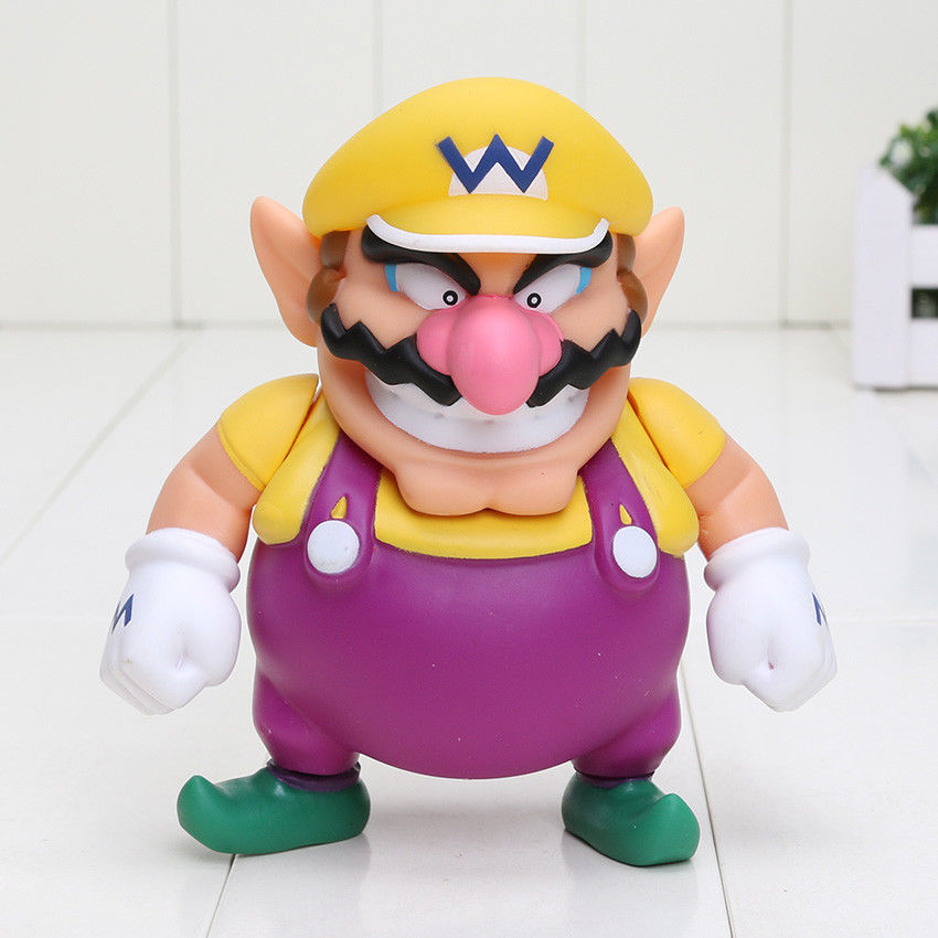 Super Mario Action Figure Wario Toy Nintendo World 1 Bros Doll New Game Kid Gift Anime F ...