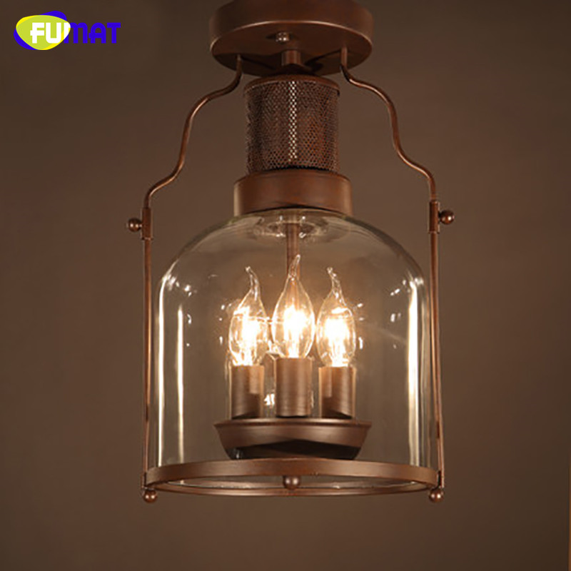 lantern lights bedroom fumat ceiling lamp industrial metal plafond retro ceiling 12054
