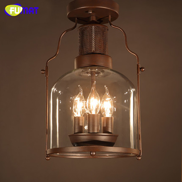 Fumat Plafond Lampe Industrielle Metal Plafond Retro Plafonnier