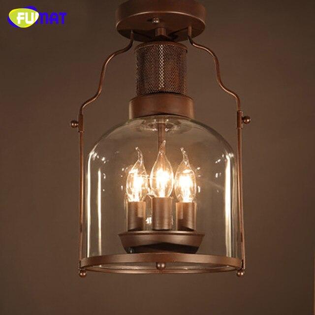 FUMAT Plafondlamp Industriële Metalen Plafond Retro Plafondlamp ...