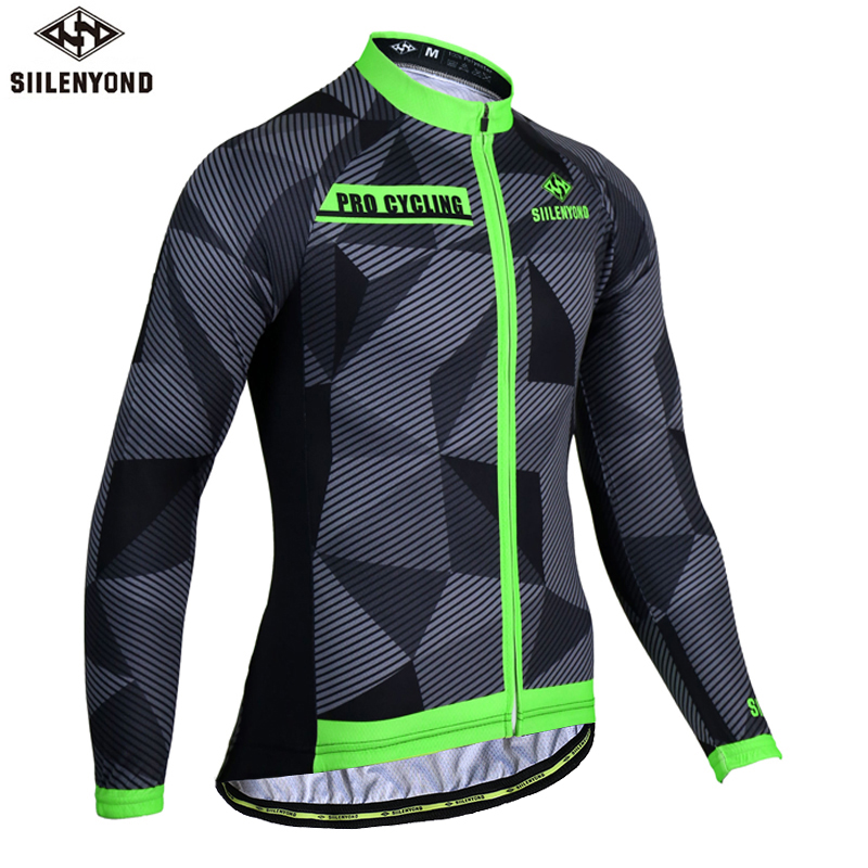 Siilenyond Long Sleeve Cycling Jerseys Breathable Mountain Bike Clothes  Cycling Clothing Quick-Dry Bicycle Cycling Clothing 4eb0c0ee0