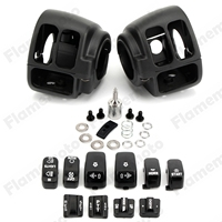 Black Motorbike Accessories Parts Switch Housing Case Cover 10 Cap For Harley Sportster 883 1200 XL