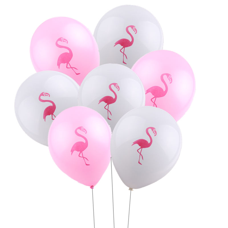 XXPWJ 10pcs/lot New flamingo latex balloon baby birthday wedding dress decoration balloon wholesale Z-036