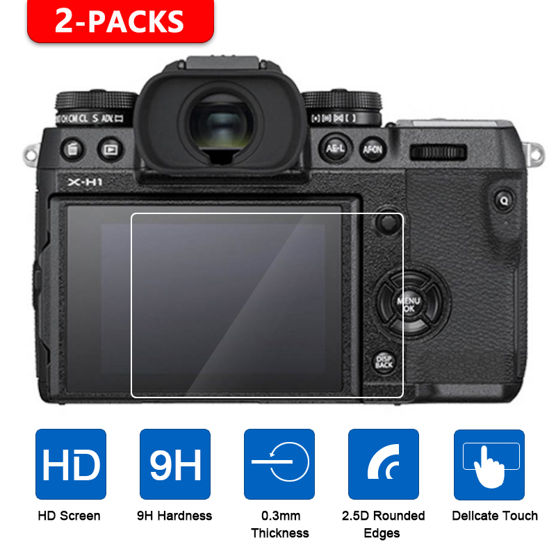 2Pcs Tempered Glass Screen Protector For Fujifilm X-T1 X-T2 X-T3 X-H1 X-T100 X-T20 X-T10 XF10 X-E3 X70 X-Pro2 X-Pro1 X100T X100F