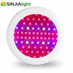 Espectro completo 216 W UFO LED crecimiento planta de luz fitolamp hidropónico lámparas Led para flores plántulas acuario plantas de interior crecer tienda