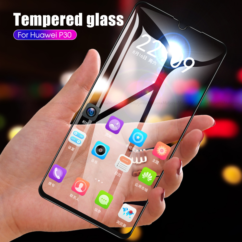 Full Cover Tempered Glass For Huawei P30 P 30 Protective Glass Front Film For HuaweiP30 ELE-L29 ELE-L04 Screen Protector Glass