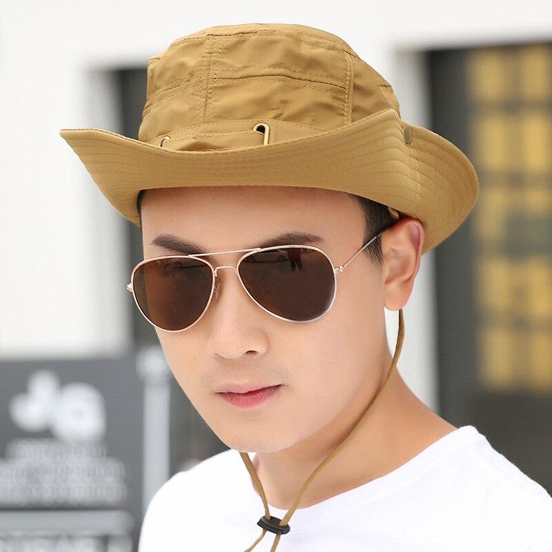 385bf36e603 Men women Sun Hat Fashion Summer Beach Fisherman Hats Anti UV Sun  Protection Bucket Hat Holiday boys girls Sun Cap -in Sun Hats from Apparel  Accessories on ...