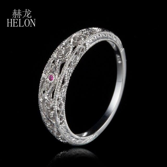 af20a8998f86 Helon Твердые 10 К белого золота натуральный розовый сапфир Винтаж кольцо  филигрань Книги по искусству Nouveau